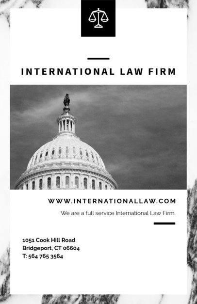International Law Firm Flyer Maker 701d