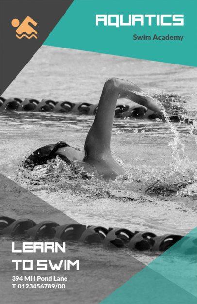 Swimming Academy Flyer Maker 695b