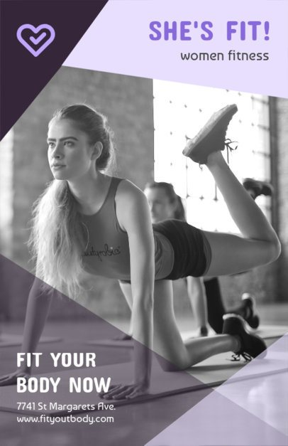 Flyer Maker for a Women's Fitness Club 695c