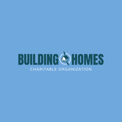 Building Homes Logo Design Maker 1455c