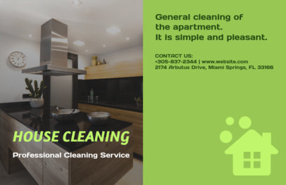 Horizontal Flyer Template for Pro Cleaning Service 694a