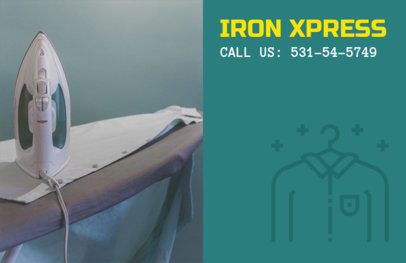 Simple Flyer Template for Ironing Services 694c