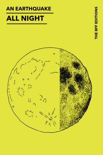 Moon Graphics Book Cover Template for Poetry 529d