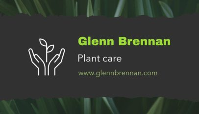 Business Card Maker for Plant Care Pros 650c