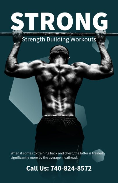 Strength Building Workouts Flyer Maker 700a