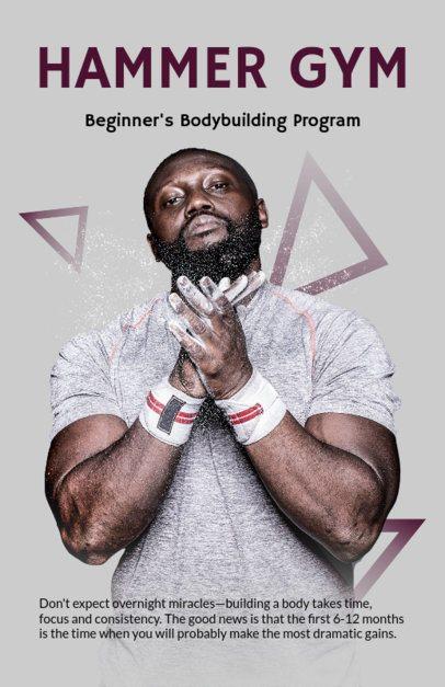 Online Flyer Maker for a Bodybuilding Program 700c