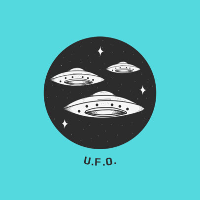 UFO Graphic Popsocket Design Template 706b