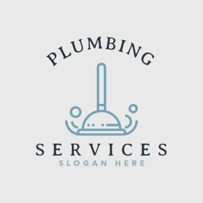 Plumbing Logo Maker with Professional Plumbing Graphics 1501