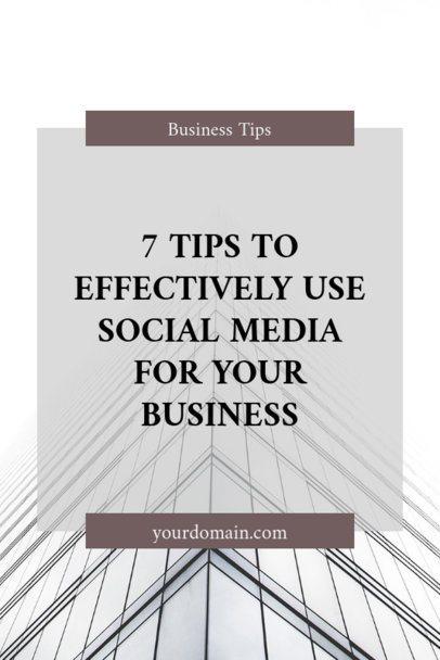 Pinterest Post Template for Social Media Posting Tips 659d