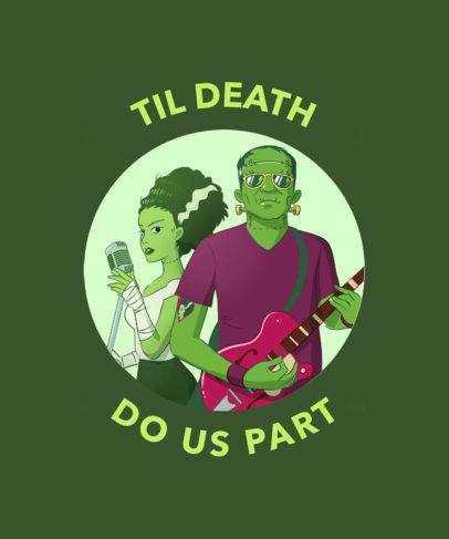 Frankenstein Inspired T-Shirt Design Template 438c