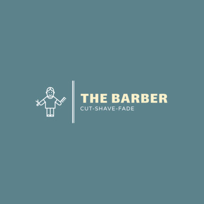 Logo Design Template for Cool Barbers 1467c