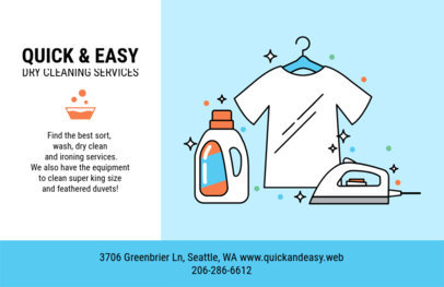 Horizontal Flyer Template for Dry Cleaning Company 693e
