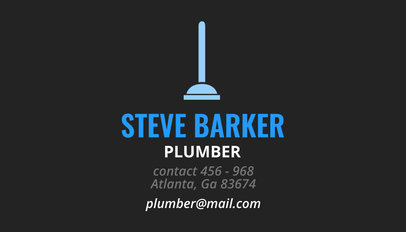 Business Card Maker for a Plumber 664