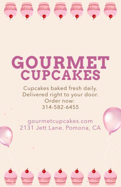 Flyer Design Maker for Gourmet Cupcakes 496c
