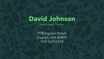 Landscape Partner Business Card Template 658d