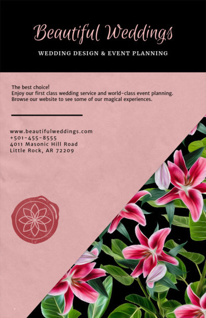 Flyer Maker for an Event Planning Company 717b