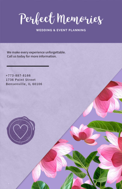 Wedding Planning Flyer Template 717e