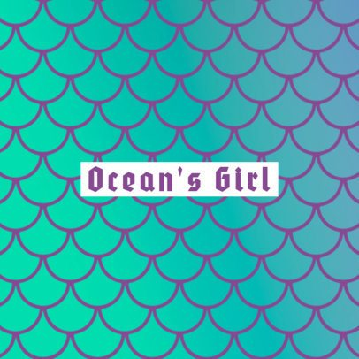 Ocean Mermaid Phone Grip Template 677c