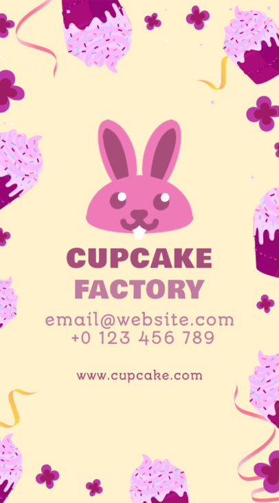 Cupcake Factory Vertical Business Card Maker 495a