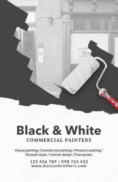 Commercial Painters Flyer Design Template 712e