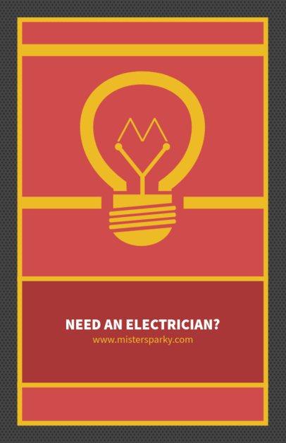 Minimalist Flyer Maker for Electricians 725b