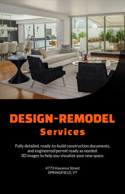 Flyer Maker for a Remodel Design Services Company 714e