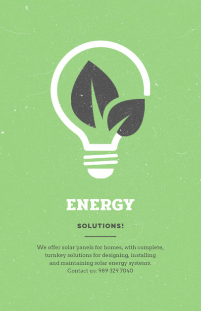Energy Solutions Company Flyer Design Maker 711c