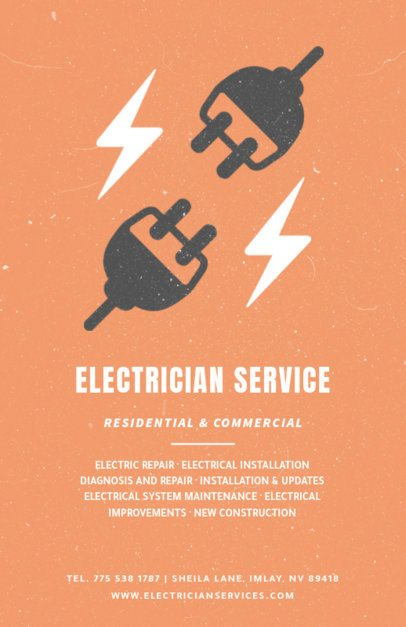 Flyer Maker for Electrical Contractors 711d