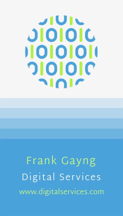 Professional Business Card Maker for Digital Services 509c