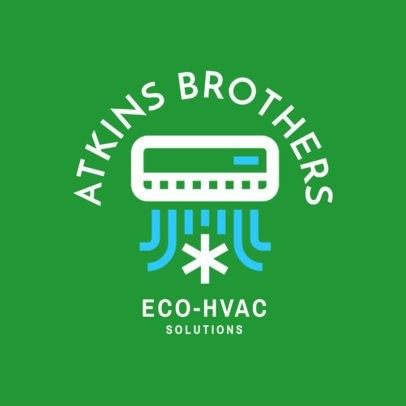 Eco-HVAC Logo Template 1505b