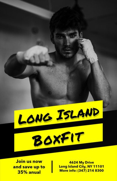 Boxing Lessons Flyer Template 696a