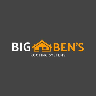Roofing Systems Logo Design Template 1483c