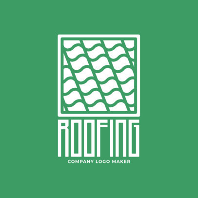 Roofing Company Logo Template 1482c