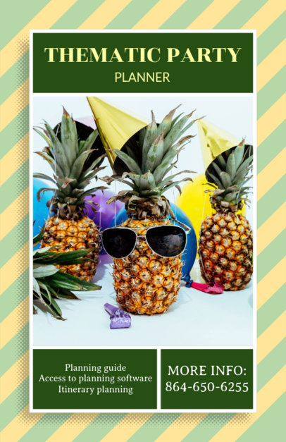 Flyer Template for Thematic Party Planner 718e