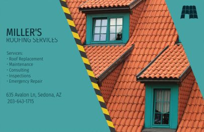 Roofing Services Flyer Design Template 735a
