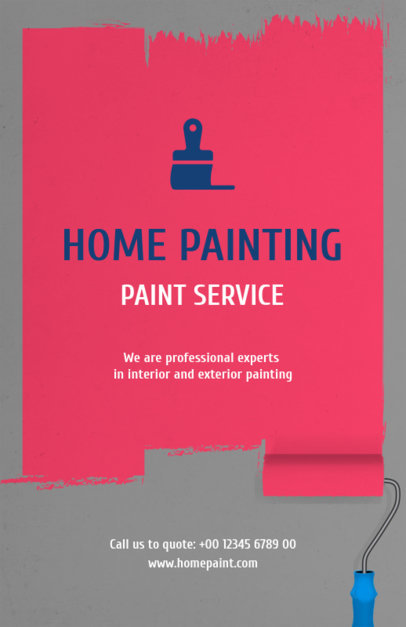 Flyer Template for a Home Painting Service 734d