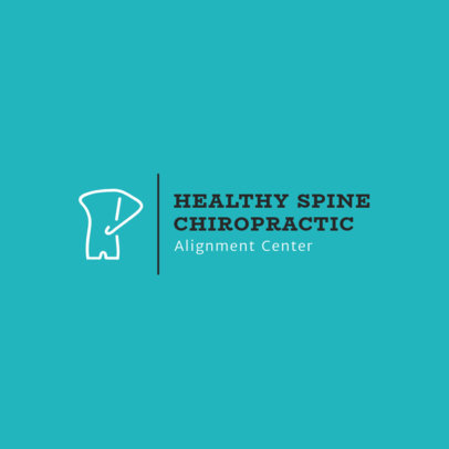 Chiropractic Adjustment Logo Maker 1492a