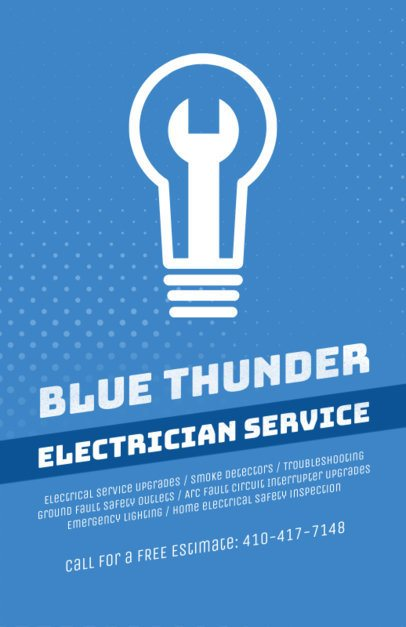 Electrician Service Flyer Maker 728a