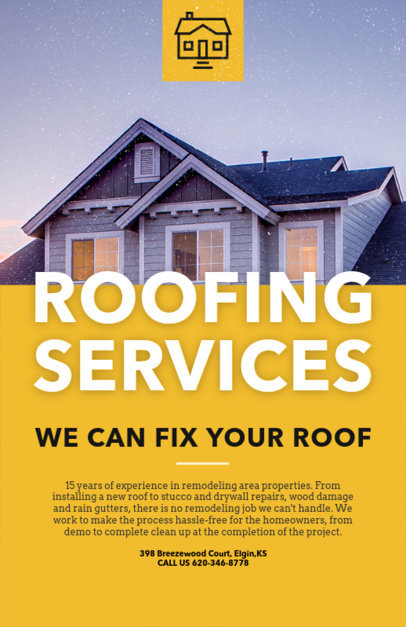 Roofing Services Flyer Maker 739