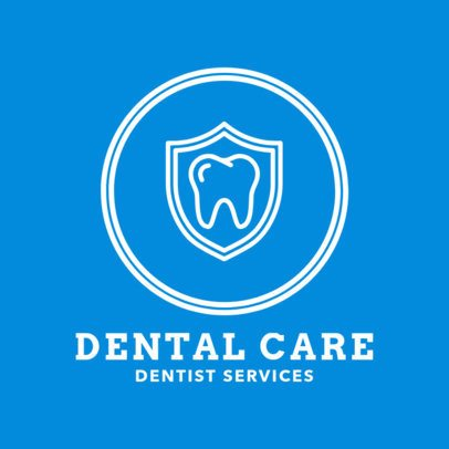 Dentist Services Logo Maker with a Tooth Icon 1489e