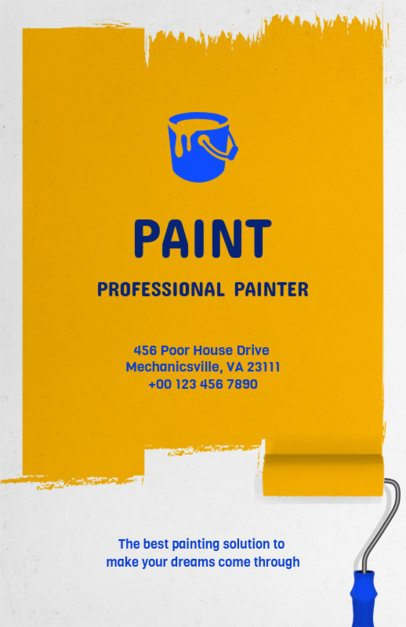 House Painting Flyer Template for a Painter 734b