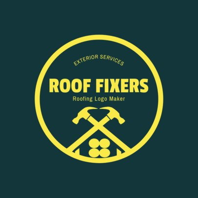 Roof Fixers Logo Maker 1484b