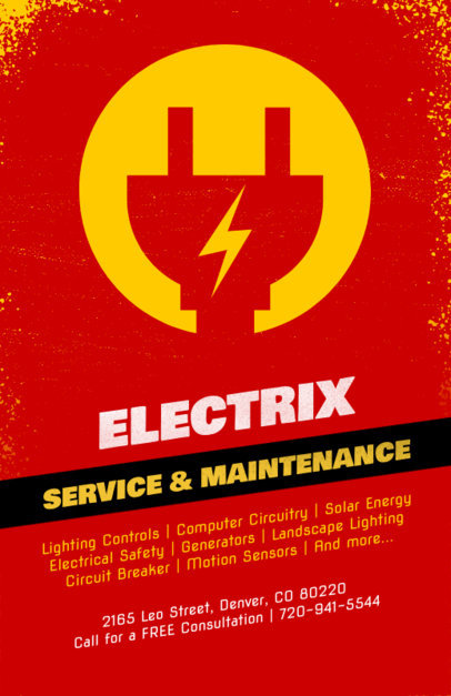 Flyer Template for an Electrical Service and Maintenance Company 728b