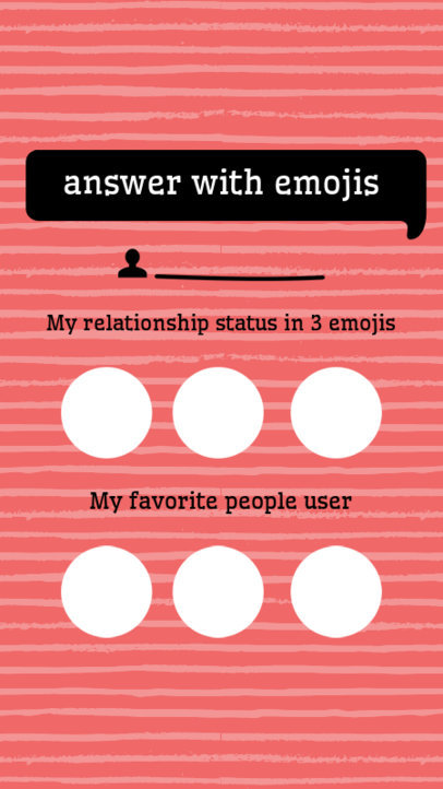 Fun Instagram Story Template of Questions 601a
