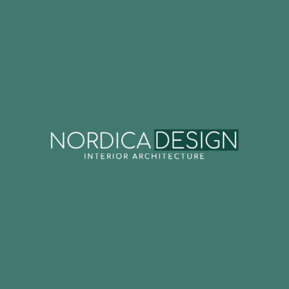 Logo Maker for Interior Architecture 1263a