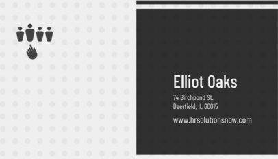Business Card Template for HR Executive 515c