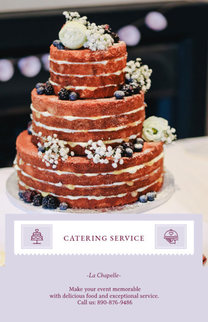 Flyer Maker for a Catering Service Company 707e