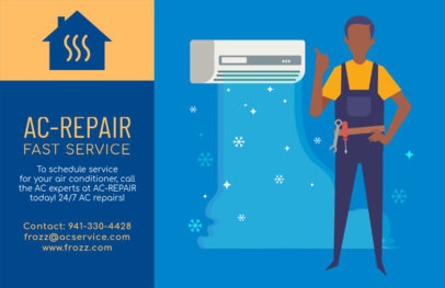 Fast AC Repair Flyer Template 740c