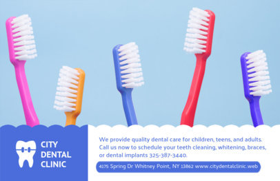 Horizontal Flyer Design for City Dental Clinic #489a