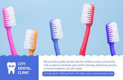Horizontal Flyer Design for City Dental Clinic #489a